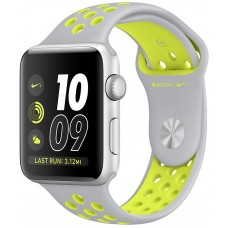 Apple Watch Nike+ 42mm Silver Case with Flat Silver/Volt Nike Sport Band (MNYQ2)